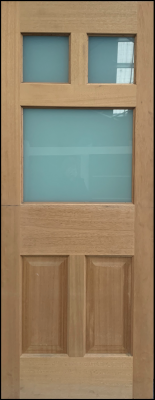 3 LITE - 2040x820x40 SOLID TIMBER DOOR [CLEARANCE]