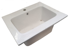 CERAMIC LAUNDRY TUB BASIN - WHITE [CLEARANCE]