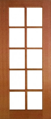 10 Lite Clear 2040x820x35 Timber Internal Door