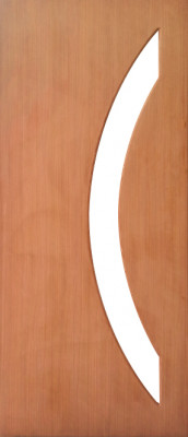 Orange Smooth 2040x820x40 Entrance Door