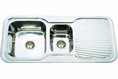 Classic - Double Bowl And Drainer Sink