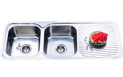 Boston - Double Bowl And Drainer Sink
