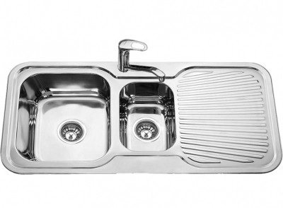 Chelsea - Double Bowl And Drainer Sink