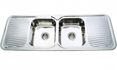 Trend 1500 - Double Bowl Double Drainer Sink