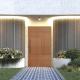 PENOLA - 2040x820x40 TIMBER BATTEN DOOR